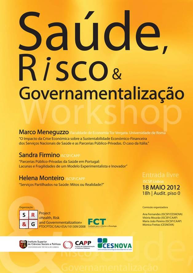Workshop sobre Saúde, Risco e Governamentalização