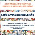 Candidaturas abertas para comunicações nas III Jornadas de Ciências Sociais e Humanas em Saúde